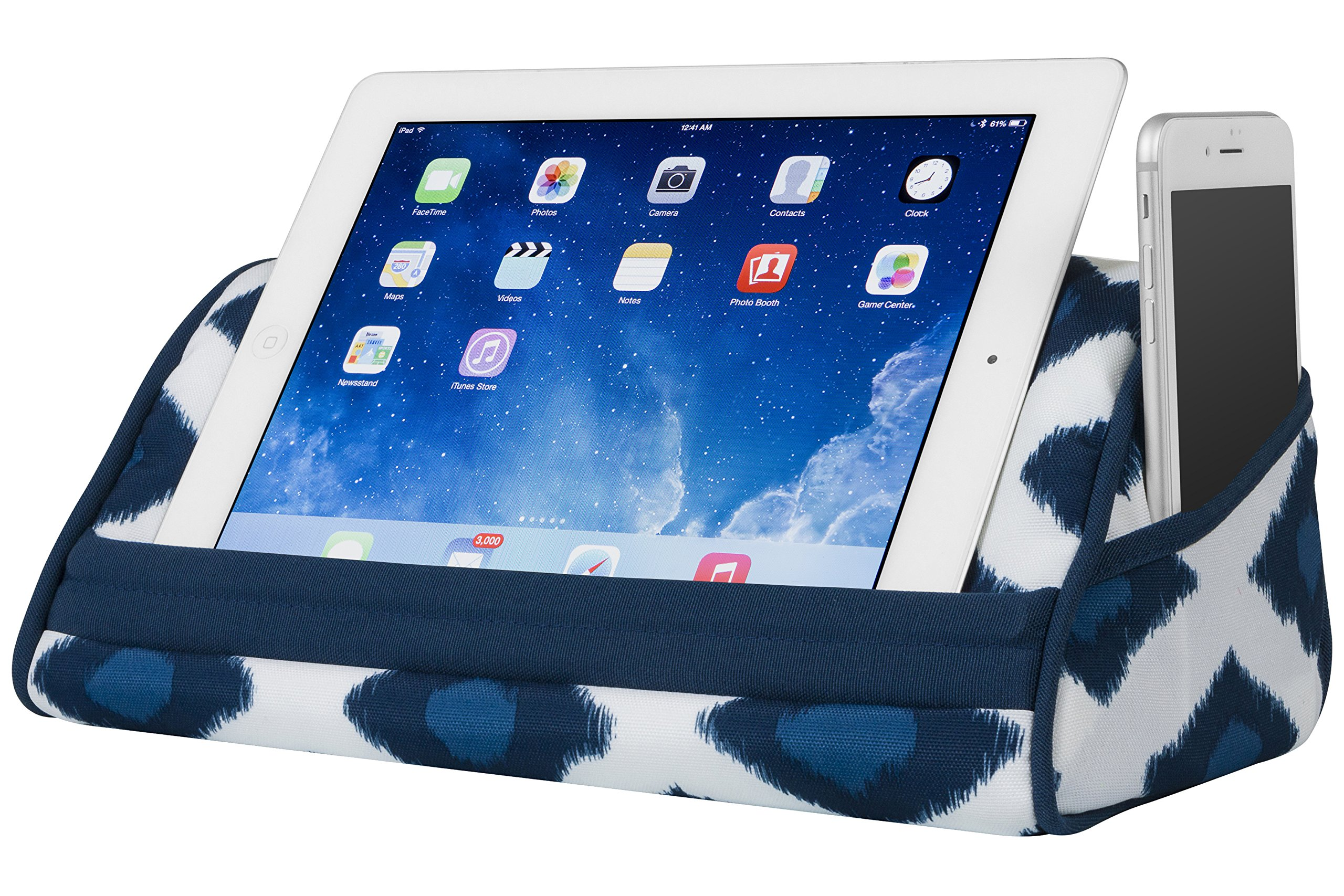 LapGear Designer Tablet Pillow - Navy Ikat (Fits up to 10.5'' Tablet)