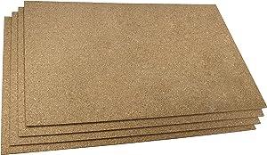 """WarmlyYours Floor Heating Cork Sheet Insulating Underlayment, 24"""" x 36"""", 4 Pack"""