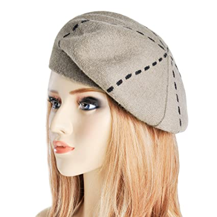 Womens Reversible Cashmere Beret Hat Double Layers French Beret (White  Coffee)  Amazon.ca  Luggage   Bags 0bda664a2e1