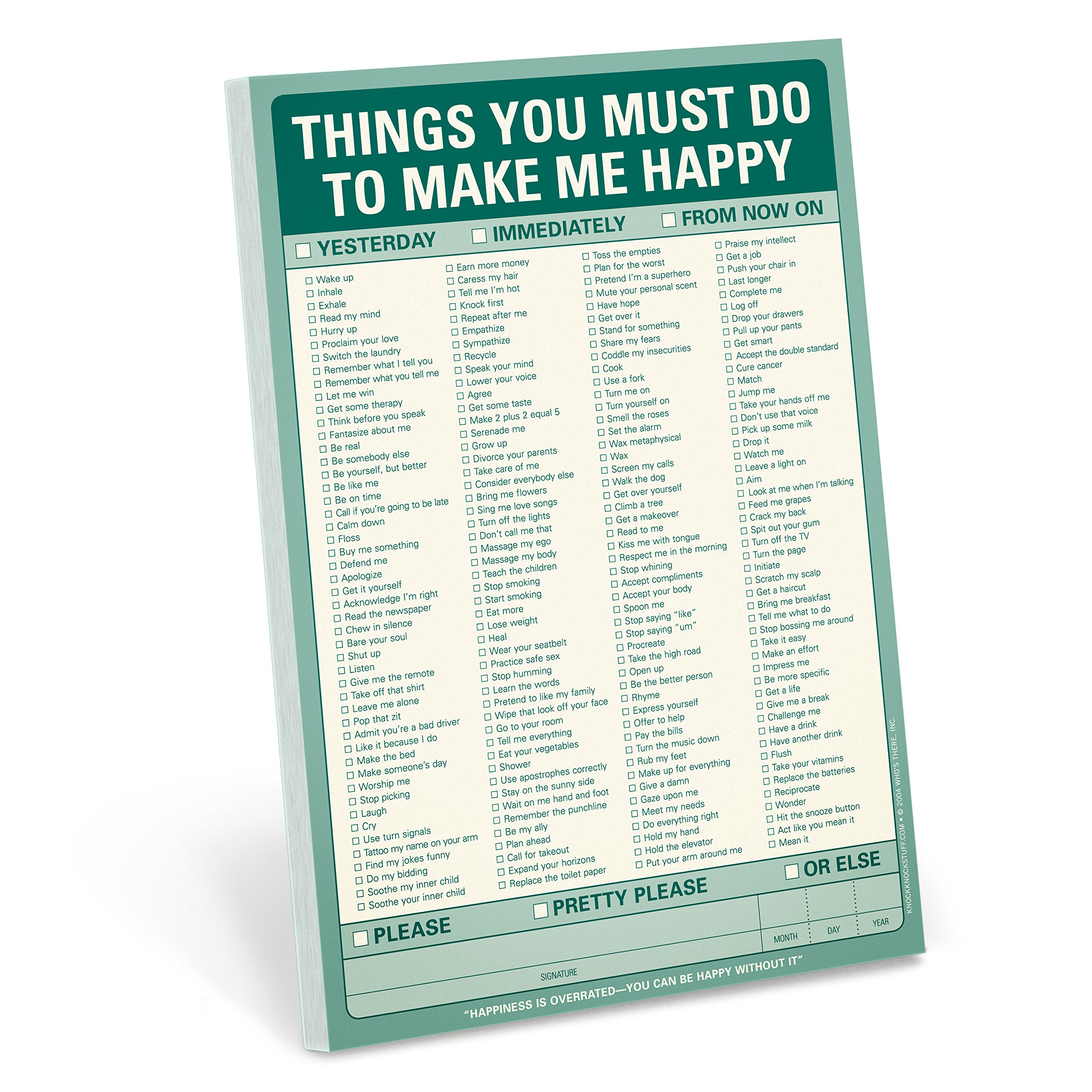 Knock Things Must Make Happy product image