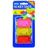 KEVRON 46944 Key Tags Id38 Fluoro Assorted Pack 10