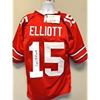$175 » Ezekiel Elliott Ohio State Buckeyes Signed Autograph Custom Jersey Red JSA Certified