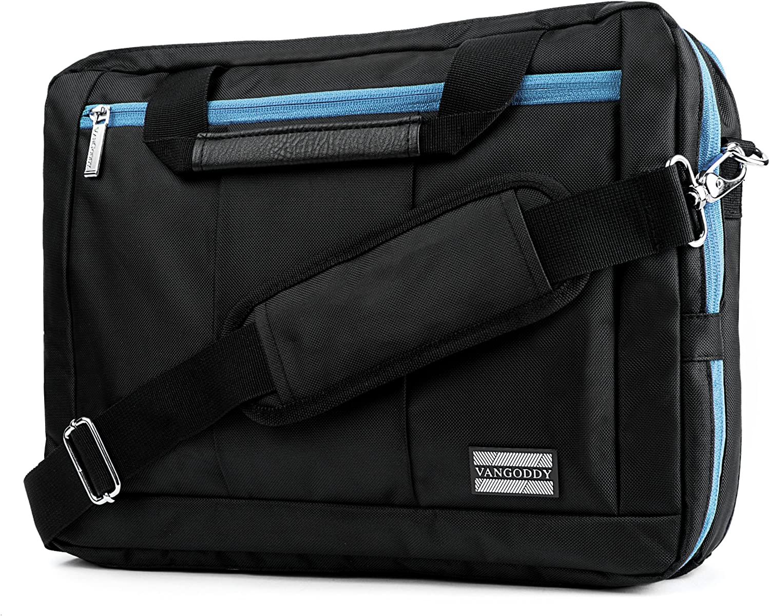 "Blue Convertible Laptop Messenger Bag for Lenovo Flex, ThinkPad, IdeaPad, Legion, Yoga 14"" to 15.6 inch"