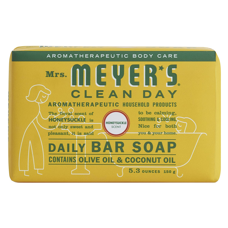 Mrs. Meyer's Clean Day Daily Bar Soap, Honeysuckle, 5.3 oz Mrs. Meyer' s Clean Dáy