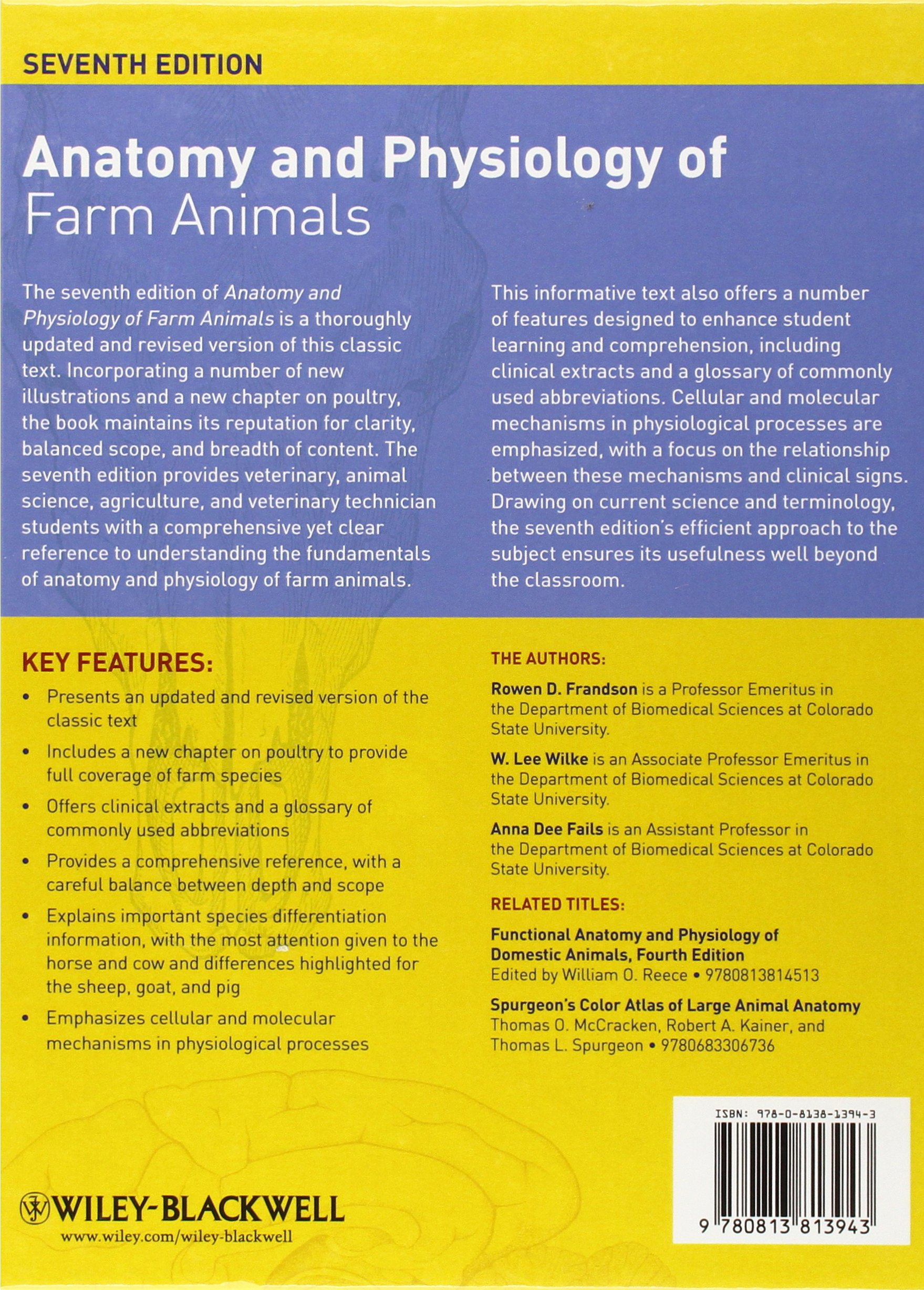 Anatomy and Physiology of Farm Animals: Amazon.co.uk: Rowen D ...