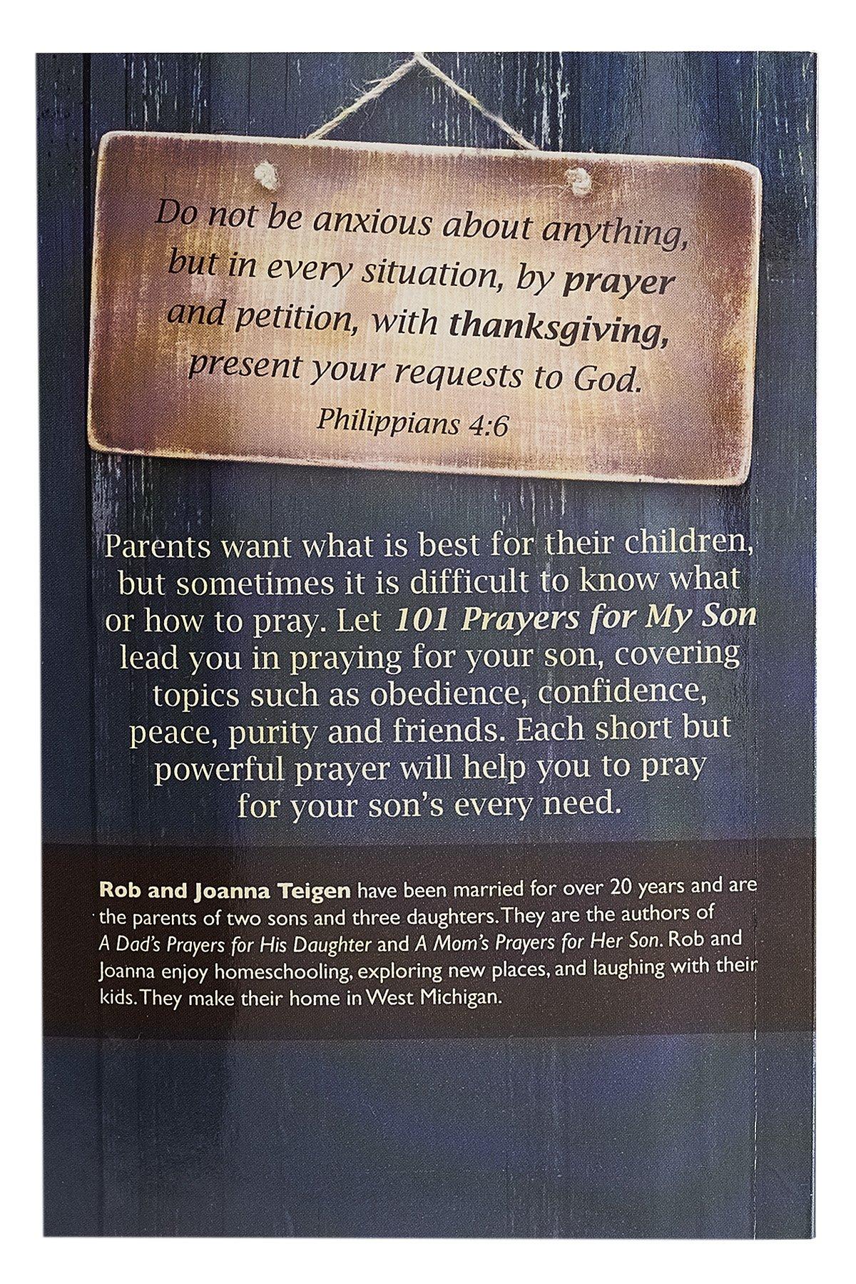 101 Prayers for My Son: Rob & Joanna Teigen: 9781432113476: Amazon ...
