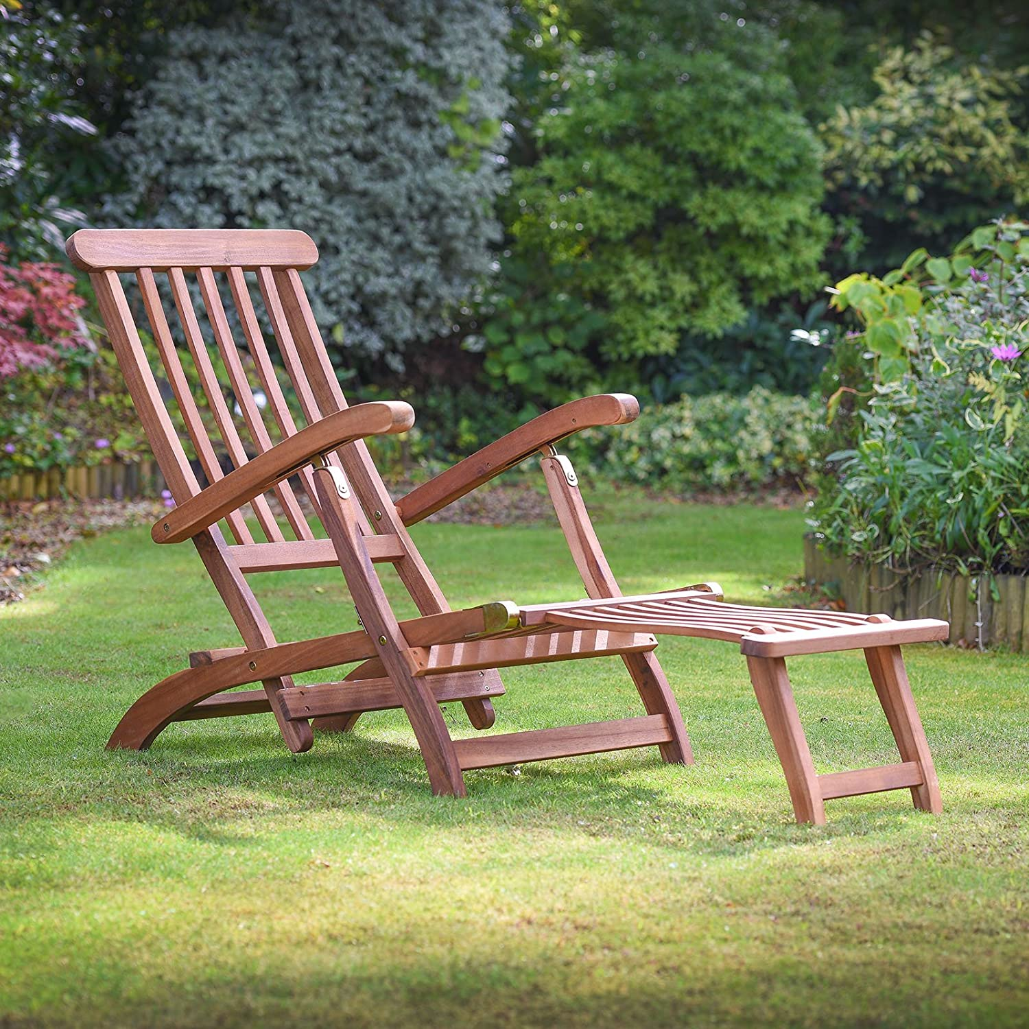Plant Theatre Reclining Hardwood Steamer Chair – Fully Assembled