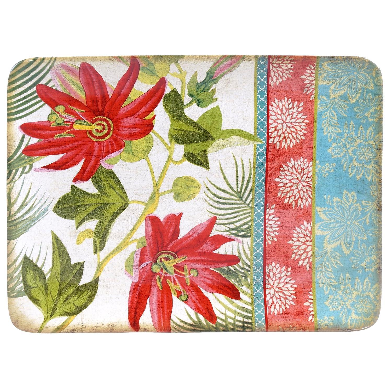 Certified International 17683 Tropics Rectangular Platter, 16 X 6, Multicolor 16 X 6
