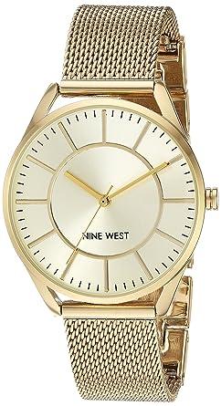 Amazon.com: Nine West NW/1922 Reloj de pulsera de malla para ...
