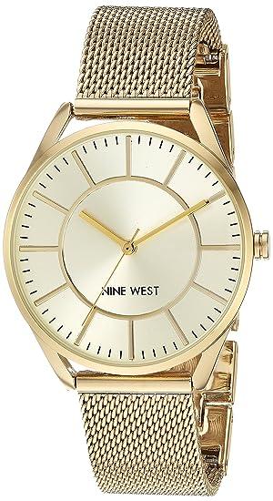 Nine West Women s NW 1922CHGB Gold-Tone Mesh Bracelet Watch d668a8333011