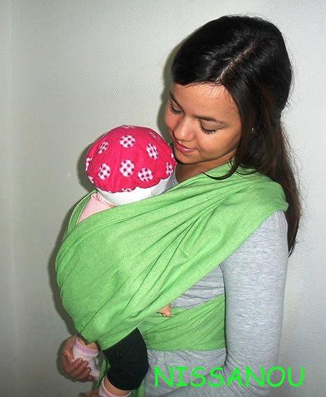 NISSANOU porte bébé ECHARPE DE PORTAGE neuve VERT POMME idée cadeau  naissance aa0342cdcc7