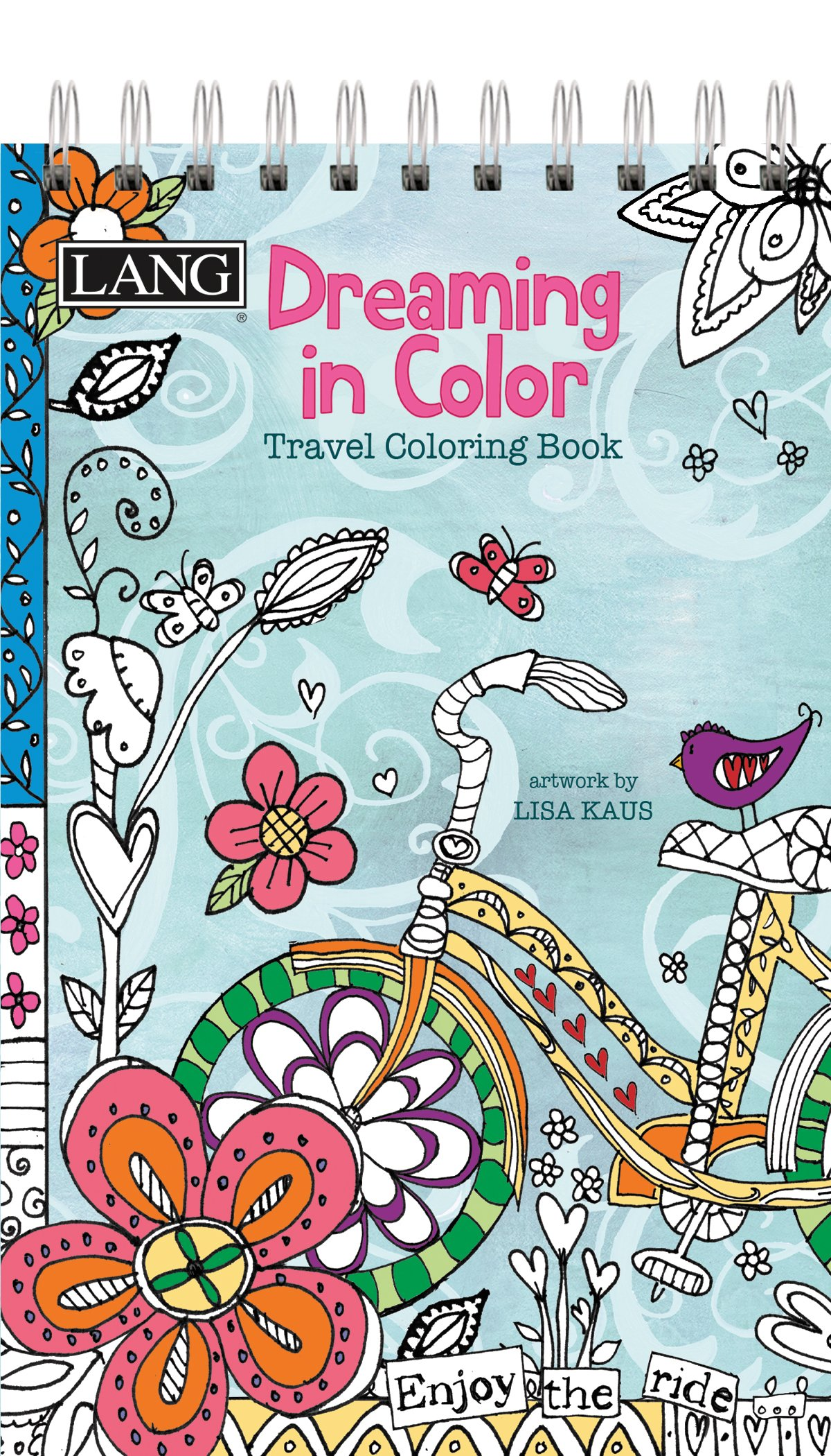 LANG Dreaming In Color Travel Coloring Book Spiral Bound