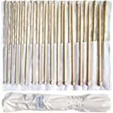 Set of 32 Bamboo Knitting Needle by Curtzy - 16 Pairs of Wooden Knitting Needles with Storage Case - Ideal for Sweaters, Lace & Flower Projects - The Best Set for Beginner and Professional