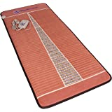 "Far Infrared Amethyst Mat Pro (71"" L x 32"" W) - Negative Ion - FIR Therapy Heating Pad - 100% Natural Amethyst Crystals - FDA Registered Manufacturer - Adjustable Temperature Setting - Reddish Brown"