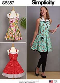 product image for Simplicity Vintage Women's Apron Sewing Patterns, Sizes S-L