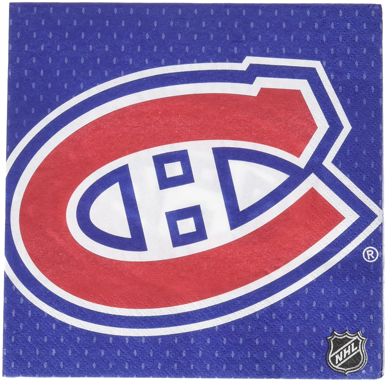 513805 Amscan Montreal Canadiens Collection Luncheon Napkins TradeMart Inc 96 Ct