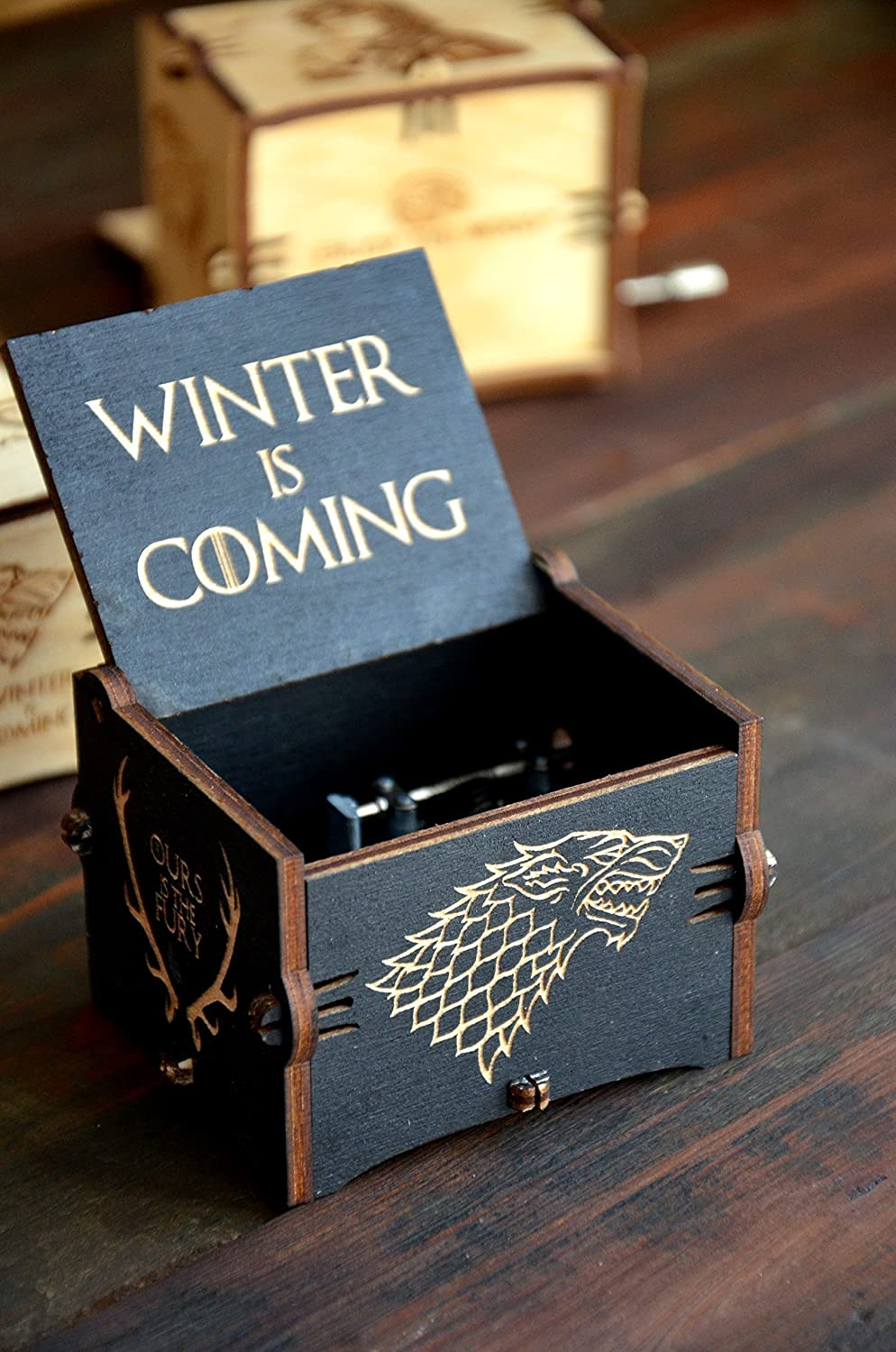 Musical Wooden Box Game of Thrones Gift Wood Anniversary Gift for Husband Game of Thrones Music Box Main Theme Gift for Friend Dad Boyfriend