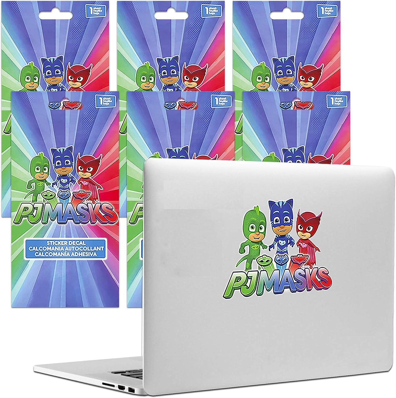PJ Masks Party Favors Decals Bundle Set ~ 6 Large Decal Stickers for Car, Laptop, Walls, (PJ Masks Party Favors)