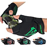 Americ Empire Pro Fingerless Gaming Gloves for Sweaty Hands 【As Seen on TV】 Gamer Gloves PS4, Xbox One, EPG Anti Sweat. Finge