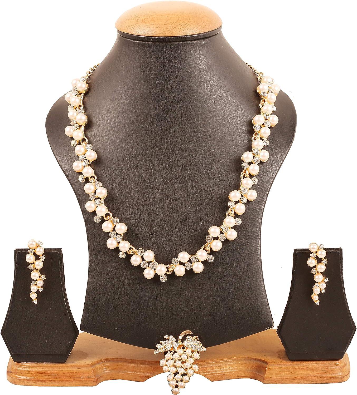 Touchstone Indische Bollywood Blumen inspiriert roten Rhein Designer Brautschmuck Halskette festgelegt f/ür Damen