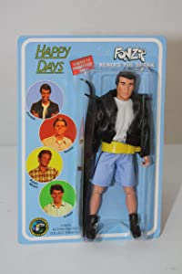 """Happy Days Fonzie Jumps the Shark 8"""" Figure on Unpunched Card"""