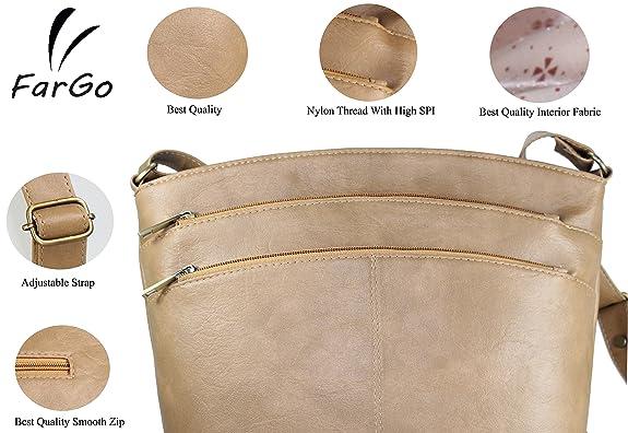 02fa9d91590c Fargo Sun dry PU Leather Women s   Girl s Side Sling Shoulder Bag  (Beige FGO-015)  Amazon.in  Shoes   Handbags
