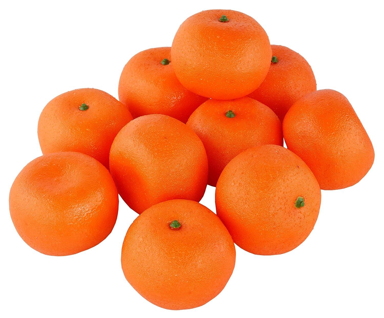 SAMYO 10Pcs Artificial Lifelike Simulation Orange Set Fake Fruit for Home House Kitchen Party Decoration