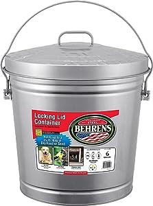Behrens 6106 6GAL Galv Garbage Pail, 6-Gallon, Steel