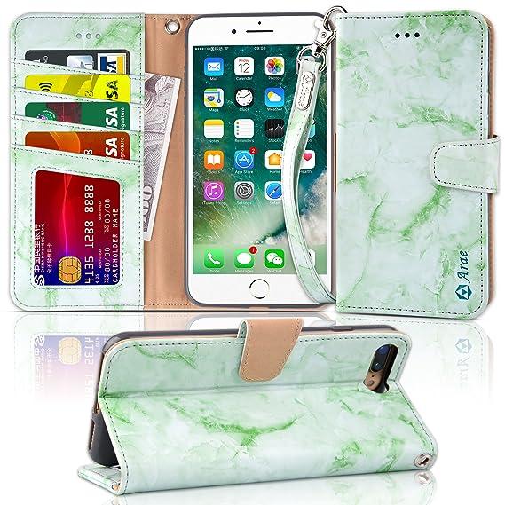 iphone 8 plus flip case green