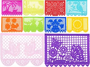 Paper Full of Wishes 50 ft Long I Large Size Mexican Tissue Papel Picado Banner I Primavera De Colores I 30 Tissue Multi-Color Panel Banner I 1pack