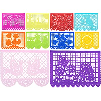 Mexican Plastic Papel Picado Banner Happy Birthday Design and Colors as Pictured by Paper Full of Wishes Ideal for Mexican Theme Birthday Celebrations