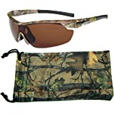 Hornz Polarized Sunglasses Men Camouflage Wrap Around Sport Frame Lightweight