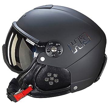 HMR - Casco de esquí/Snow HMR H3 - unisex - negro: Amazon.es: Deportes y aire libre