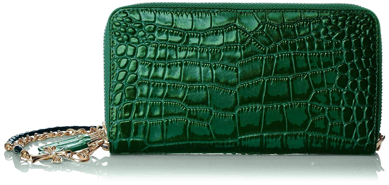 (ルミニーオ)luminio メンズ 長財布 ラウンド ダブルジップ クロコダイル 型押し 本革 ウォレットロープ チェーン [ブランド]luyon150106 B017U7JUYC  グリーン