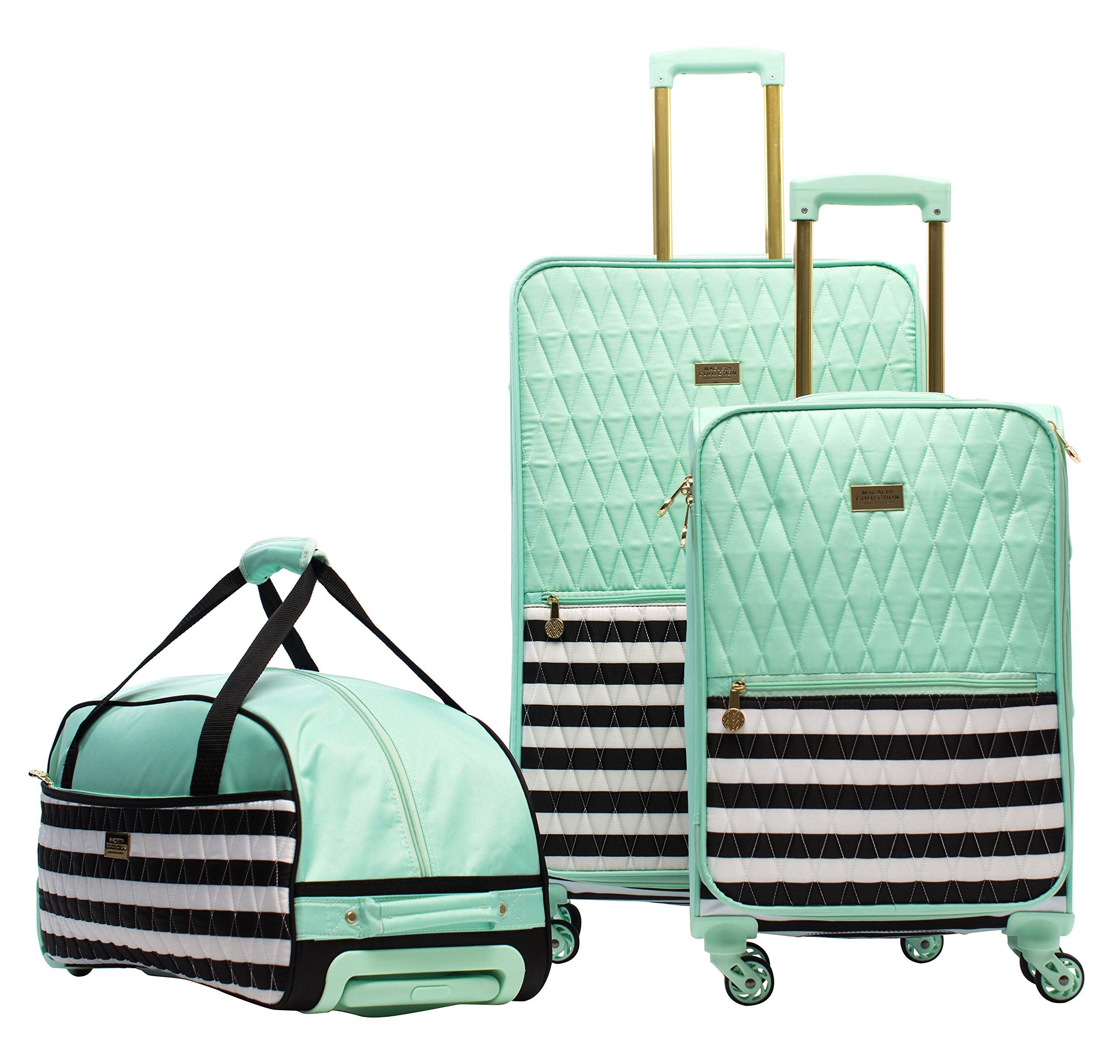 Macbeth Madison 3 Piece Luggage Set, Mint