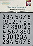 "Donna Downey Stencils Numbers Repeat Signature Stencils, 8.5"" by 8.5"""
