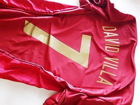 Camiseta R. Mundial VILLA Selección Española Original RFEF (S): Amazon.es: Deportes y aire libre