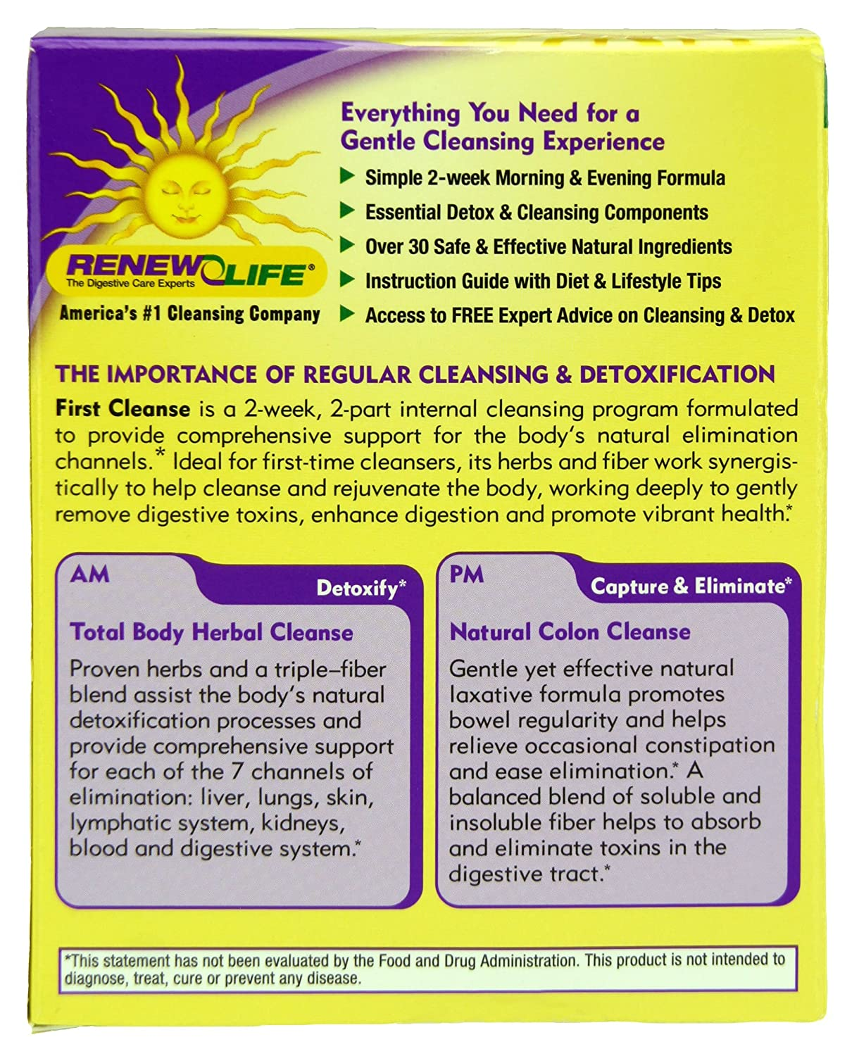 Amazon.com: Renew Life First Cleanse, 2-week Total Body Internal Cleanse:  Health & Personal Care