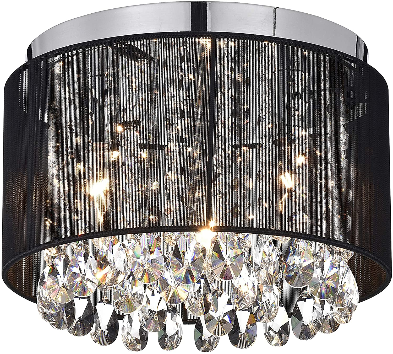 Black Chandeliers Flush Mount Ceiling Lights Crystal Chandelier Lighting 11  Light