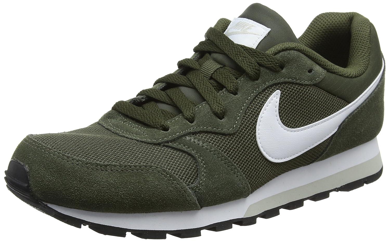 Nike MD Runner 2, Zapatillas de Running para Hombre 44 EU|Gris (Cargo Khaki/White/Light Bone 301)
