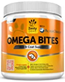 Omega 3 Chew Treats for Dogs - All Natural Fish Oil Pet Food Supplement - For Shiny Coats & Healthy Itch Free Skin - Bone, Joint & Brain Support