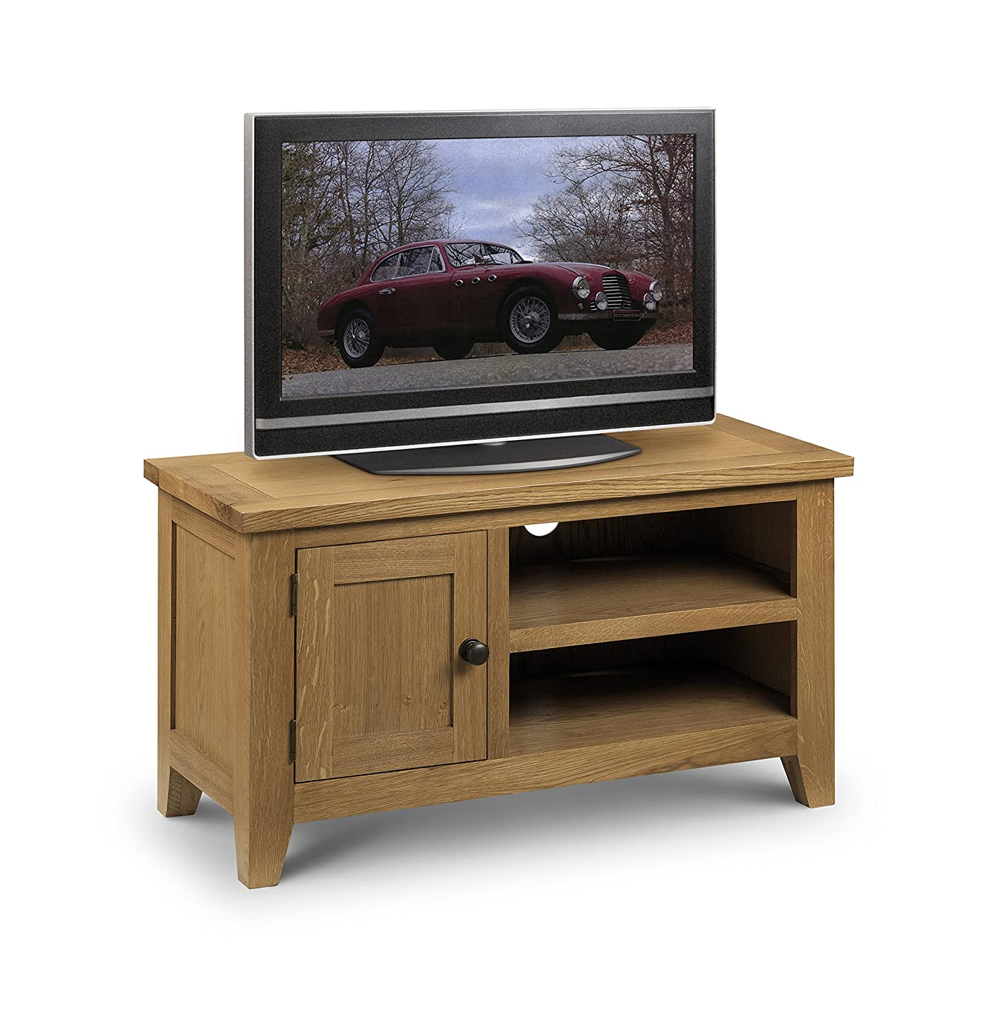 Julian Bowen Light Astoria Tv Unit Wood Oak Amazon Co Uk  # Meuble Tv Wooden Art