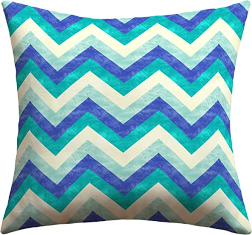 Deny Designs Jacqueline Maldonado Chevron Ocean Outdoor Throw Pillow