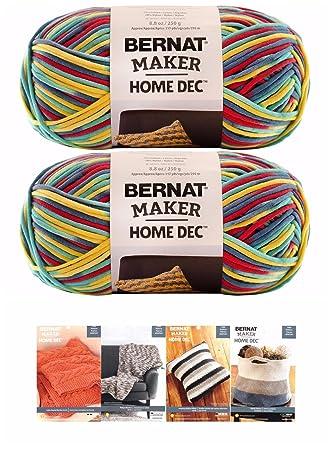 Amazon Bernat Maker Home Dec Corded Yarn Bundle 400 Skeins With 40 Custom Bernat Home Bundle Yarn Patterns