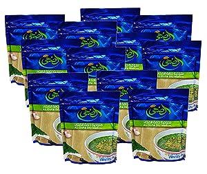 Egyptian Al Doha Dried Molokhia Molocheya Mulukhiyah Mallow Soup ملوخية ناشفة (12 Packs / 1200 gm)