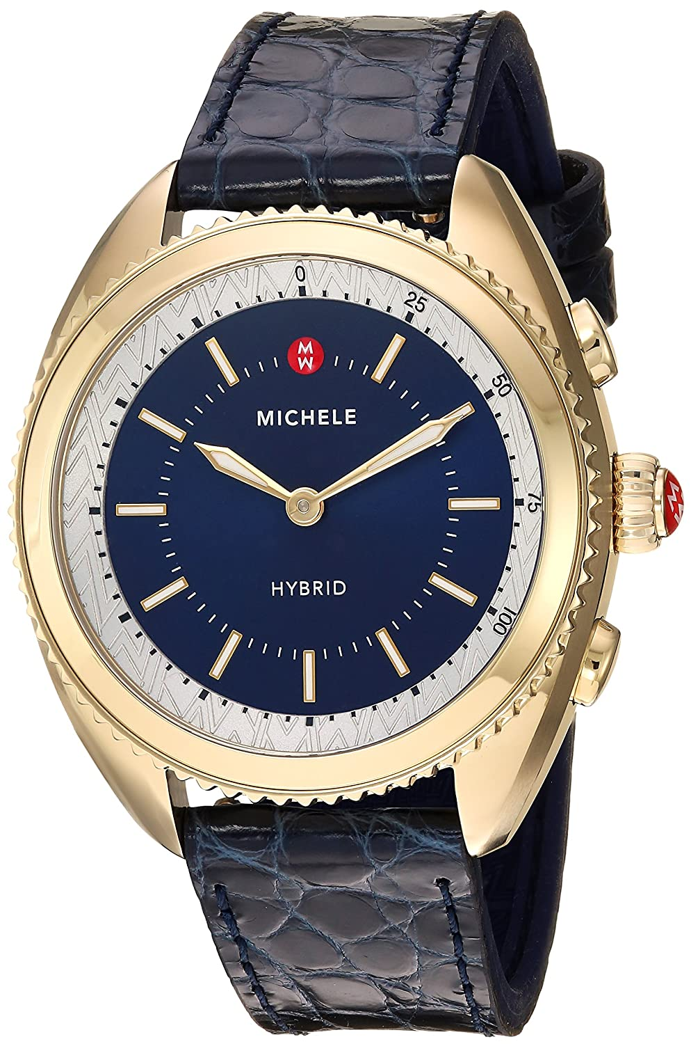 MICHELE Womens Hybrid Smartwatch, Color:Blue/Blue (Model: MWWT32A00010)