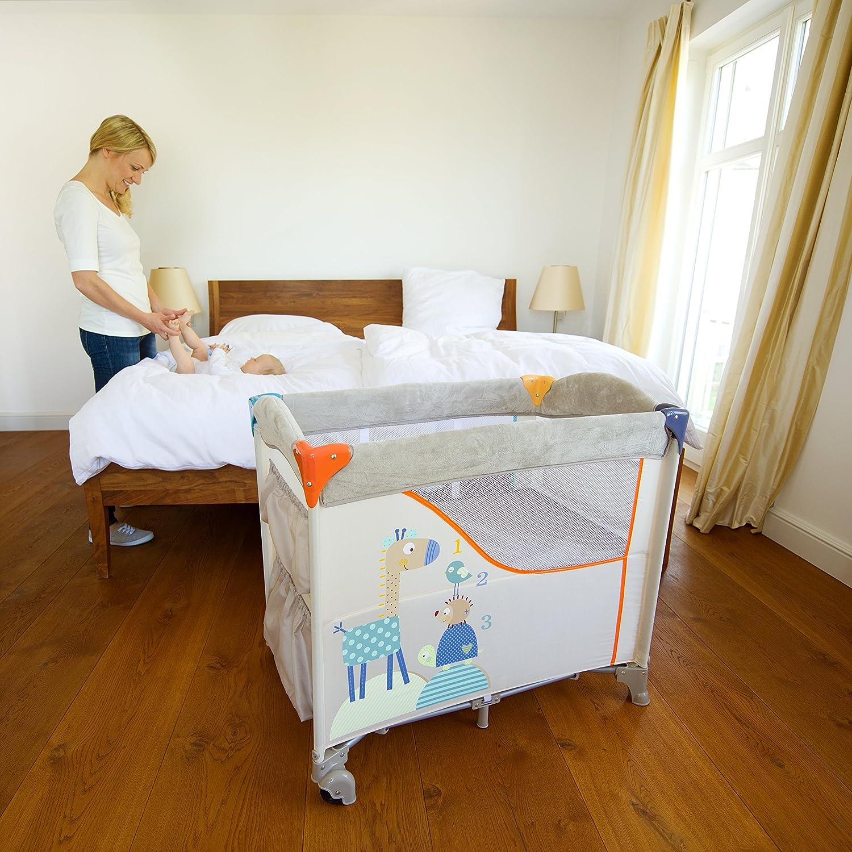 Hauck Sleep N Care - Minicuna, medidas 87 x 56 x 78 cm, cuna de viaje, incluido colchon base, con bolsas de almacenaje, plegado y transporte fácil, ...