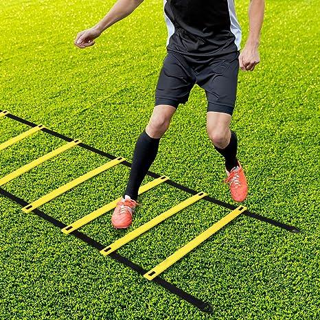 Velocidad Escalera de Entrenamiento Coordinación Agilidad, Speed Training Ladder, Equipo de Entrenamiento de Velocidad de Fitness, para Fútbol, Baloncesto, Béisbol, Lacrosse: Amazon.es: Deportes y aire libre