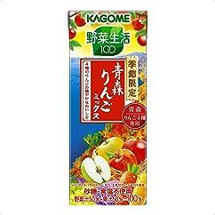 【ドリンクの新商品】カゴメ 野菜生活100 青森りんごミックス 195ml×24本