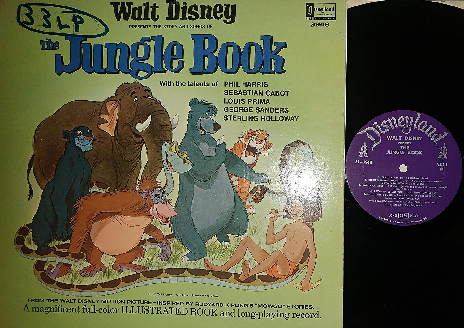 Various Walt Disney Presents Songs From The Jungle Book And Other